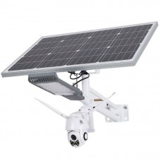 60W Solar Street Light With CCTV Camera Combo - Uses WIFI, 4G LTE, Memory Card