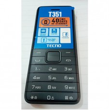 Tecno T351 Dual Sim,Super Bright Flashlight,Fm Loud Speaker -Black