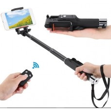 YT-888 Extendable Monopod Handheld Selfie Stick Self-Timer Rotatable Phone Holder with Bluetooth Remote Control Shutter for iPhone Android Smartphones