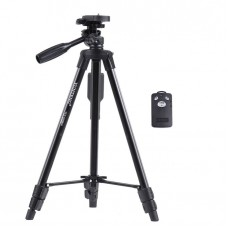 Yunteng 5208 Portable Aluminum Alloy Lightweight Tripod Stand With Remote