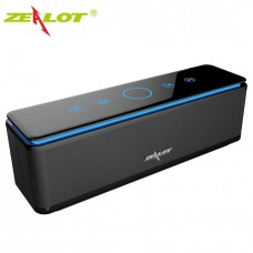 Zealot S7 Touch Control Bluetooth Wireless Speakers With Built-in 10000mAh Power Bank,LED Bar,Aux Audio/TF Card