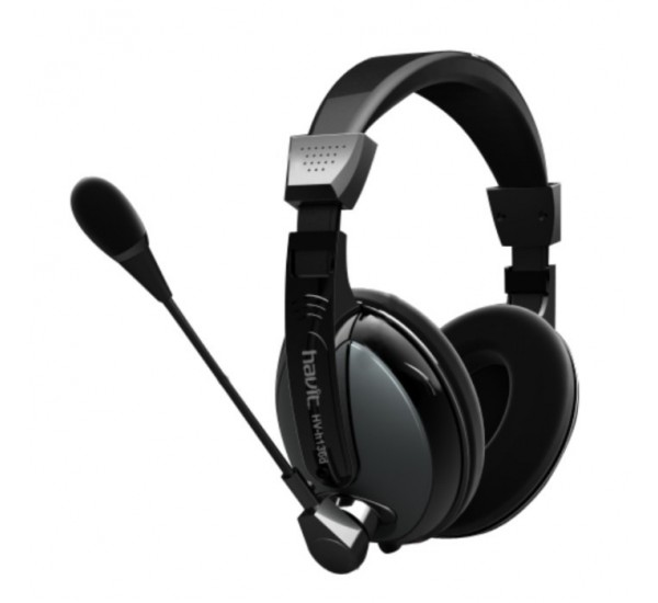 HAVIT HV136D HIGH QUALITY STUDIO HEADPHONE HEADSET WITH MIC BIG EAR PAD