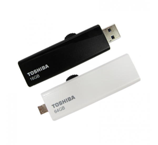 TOSHIBA USB3.0 16GB 2-in-1 FLASH DRIVE DUO