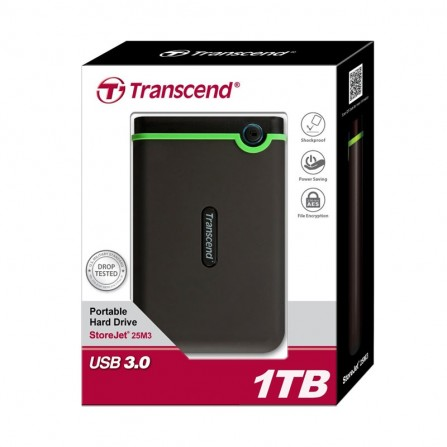 Transcend 1TB USB 3.0 Portable Hard Drive