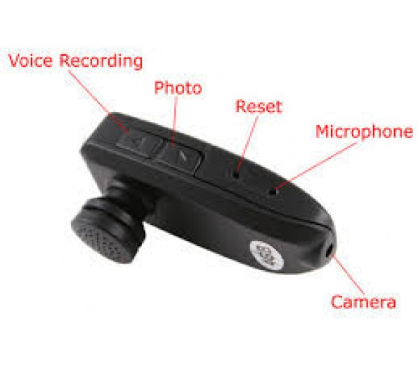 disguise bluetooth headset with hidden camera and audio recorder. Black Bedroom Furniture Sets. Home Design Ideas