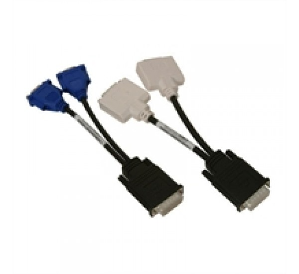 Dual DVI to VGA  extension cable