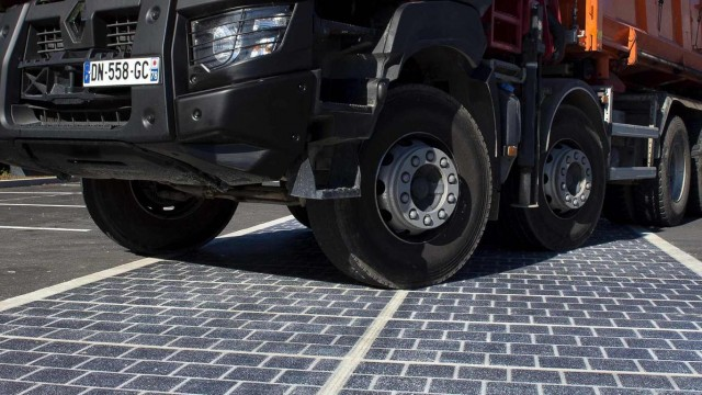 First ever solar panel road opens in France